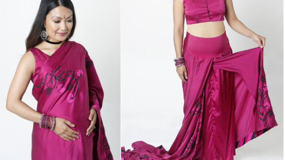 Maternity Saree & Blouse for Pregnancy & Post Pregnancy 1