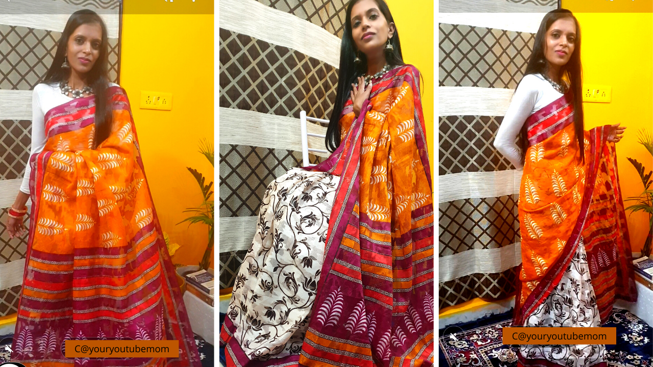 Summer Cotton Saree Look with Statement Jewellery by Shweta Sharma