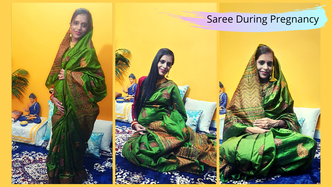 Tips on Wearing Saree During Pregnancy by Shweta Sharma