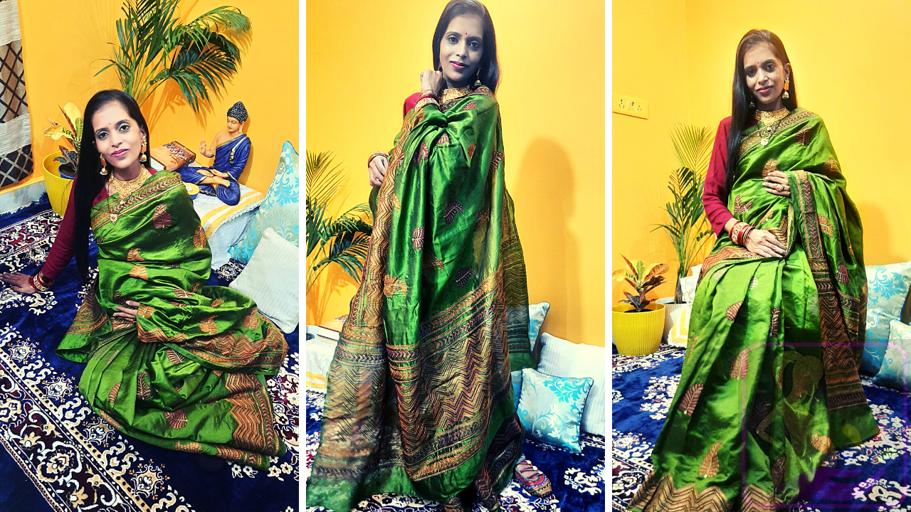 How to wear Saree During Pregnancy by Shweta Sharma