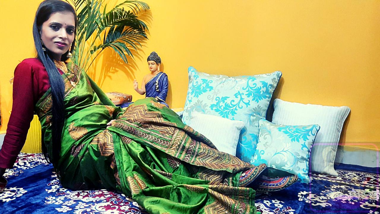 Silk Saree During Pregnancy by Shweta Sharma