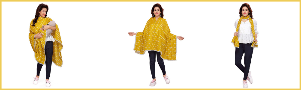 Feather Hug 360° Nursing Cover for Breastfeeding Mother